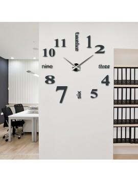 Styles nástěnné hodiny do obýváku S015 sloních šedé