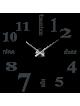 Moderní nástěnné nalepovací hodiny. 3D zrcadlové hodiny jako obraz