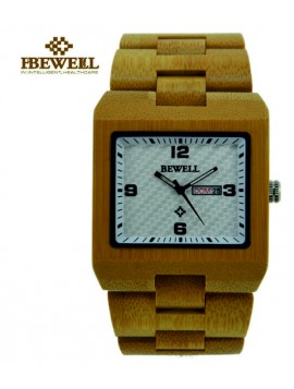 Dřevěné hodinky na ruku světlé, skoro čiré. BEWELL MAPLE WOOD WATCH