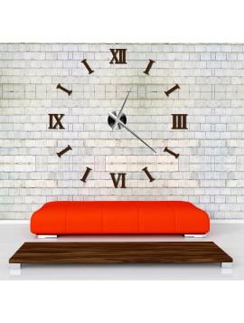 Styles nástěnné hodiny na stěnu barevné DIY CLOCK RIM 3D S037 hnědé