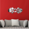 Zrcadlová dekorace kruhy DIY. 600x400x3 mm