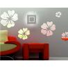 Zrcadlová samolepka květiny Velikost: 1 sada se skládá z 25 lístků (5ks květů) fi: 24 cm, 18 cm, 14 cm, 12 cm, 10 cm