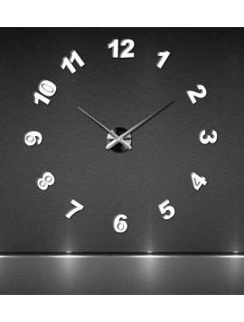 Moderní nástěnné hodiny nalepovací velké TRINITY