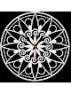 Moderní hodiny na zed, Nástěnné hodiny jako dárek, 3D Hodiny mandala.