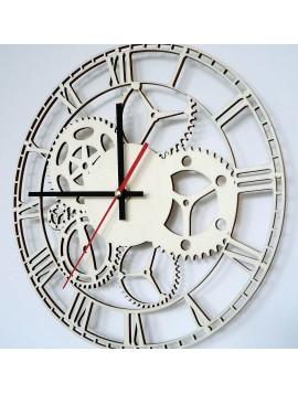 Nástěnné hodiny vyrobené ze dřeva FLUMO