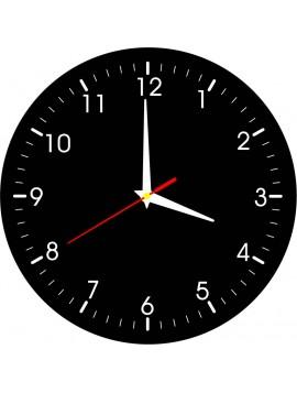 Nástěnné hodiny pohody- material HDF, nálepka ROBEER