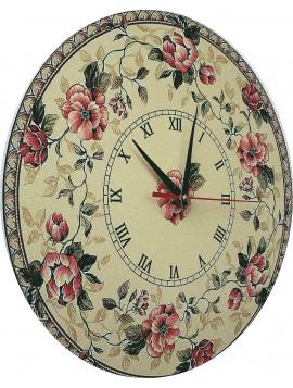 Nástěnné hodiny ze dřeva a samolepky rozměr: 30x30 cm KLARA