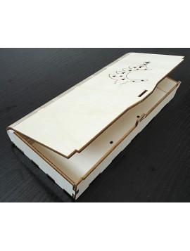 Dárková krabička vyrobena ze dřeva rozměr: 27x12x3,5 cm