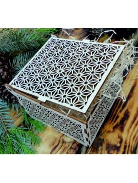 Vintage dřevěná krabička - Easy, rozměr: 12,6x12,6x8,2 cm, poskládaná