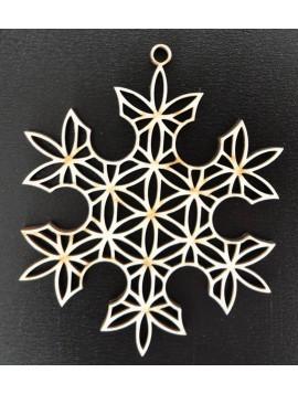 Dřevěné vánoční ozdoby-Sněhová vločka, rozměr: 61x61mm VLOCKA