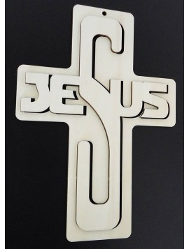 Dekorace ze dřeva - Jesus, rozměr-260x187 mm
