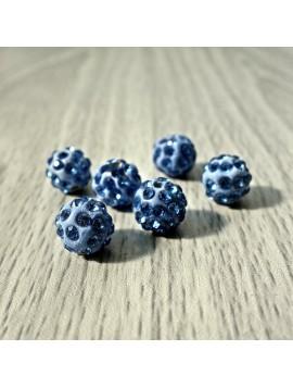 Šamballa korálka - slabě modrá FI 10 mm