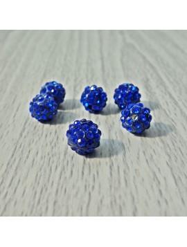Šamballa korálka - královská modrá FI 10 mm