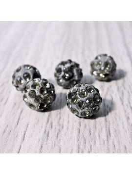 Šamballa korálka - šedá FI 10 mm