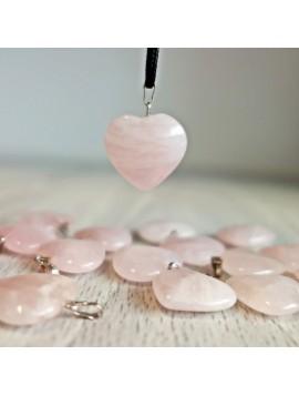 Přívěsek z minerálu - ve tvaru srdce - růženín - 2 cm