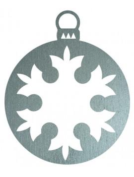 Dřevěná Vánoční ozdoba, rozměr: 8,6cm x 7cm