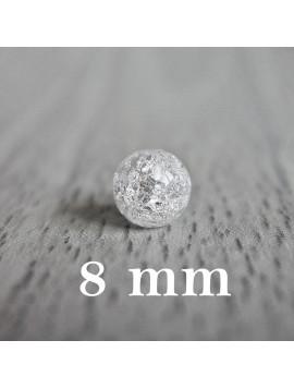 Praskání křišťál - korálek minerál - FI 8 mm