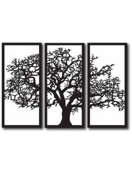 Dřevěný obrazna zeď - TREE, rozměr: 1000x680 mm