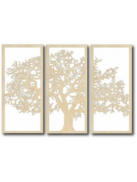 Vintage dekorace na zeď - TREE, rozměr: 700x478 mm