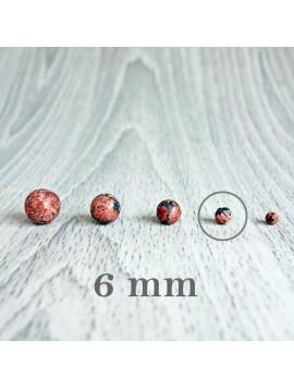 Jaspis leopardí - korálek minerál - FI 6 mm