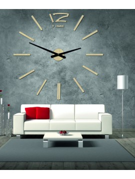 SENTOP Drevené nástenné hodiny z preglejky D003 HONEYX topoľ biele