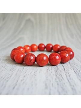 Náramek na ruku - korál červený - Ø FI 10 mm