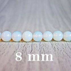 Měsíční kámen (Opalit) - korálek minerál - FI 8 mm