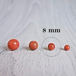 Aventurín zlatý (sluneční kámen) - korálek minerál - FI 8 mm