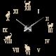 Lepicí hodiny na zeď, luxusní nástěnné hodiny, plastové hodiny
