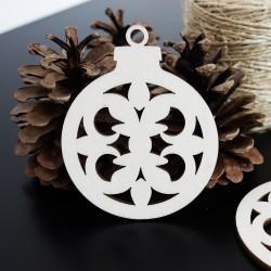 Vánoční ozdoba pro radost vyrobená ze dřeva, rozměr: 79x90 mm