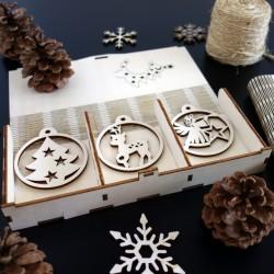 Sada vánočních ozdob, 1sada-18 kusů