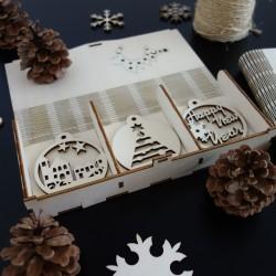 Sada vánočních dekoraci, 1 sada-18 kusů FIRXIN
