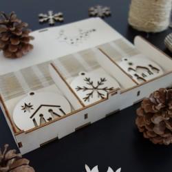 Sada vánočních ozdob, která potěší, 1 sada-18 kusů MAFFRA