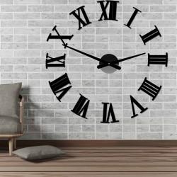 Nalepovací nástěnné hodiny římské 2D plexi