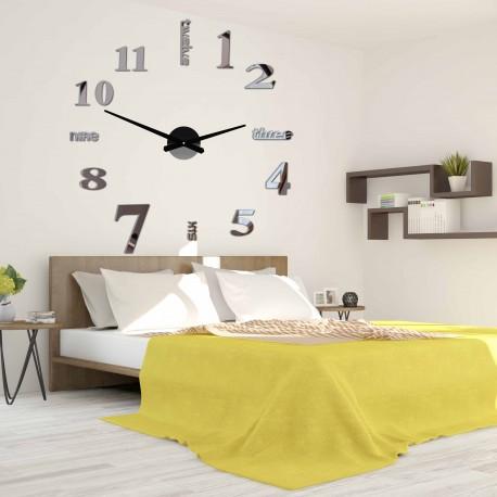Moderní nástěnné hodiny sedm 2D plexi MIRROR