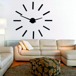 Moderní nástěnné hodiny paličky 2D plexi MIRROR