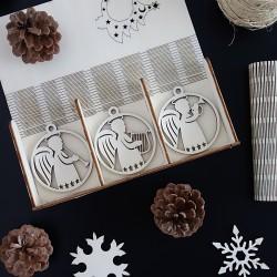 Sada vánočních ozdob pro potěšení, 1 sada-18 kusů