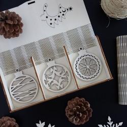 Kolekce vánočních ozdob, 1 sada-18 kusů LASKA