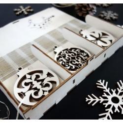 Dekorace na vánoční stromeček, sada obsahuje 18 kusů
