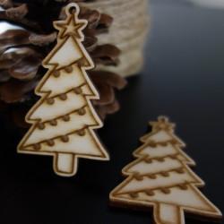 Dřevěné vánoční ozdoby, rozměr: 70x40 mm