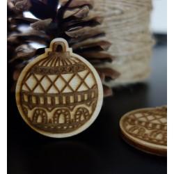 Vánoční dekorace, rozměr: 48x42 mm