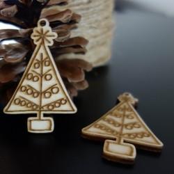 Vánoční stromek ozdoba, rozměr: 62x40 mm