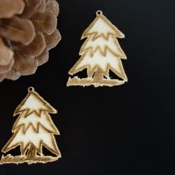 Vánoční stromek dekorace, rozměr: 50x40 mm