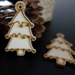 Vánoční dřevěná dekorace, rozměr: 65x40 mm