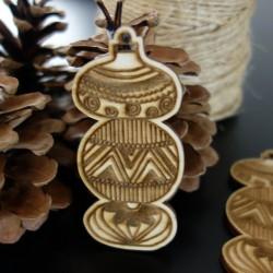 Dřevěné vánoční ozdoby, rozměr: 84x40 mm