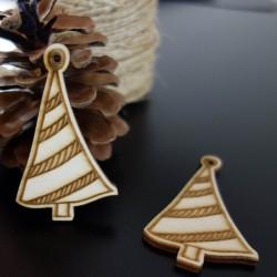 Vánoční stromek jako ozdoba, rozměr: 67x40 mm