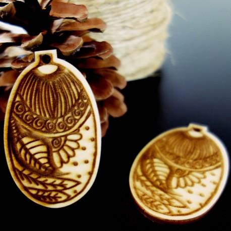 Ozdoby na vánoční stromeček dřevěné, rozměr: 65x40 mm