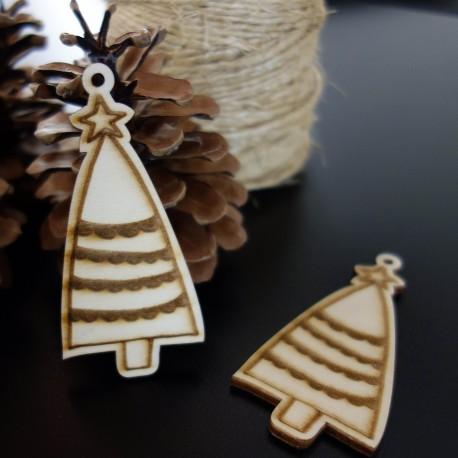 Vánoční ozdoba vyrobená ze dřeva, rozměr: 84x40 mm