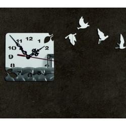 Moderní nástěnné hodiny zlatá holubice, nálepka na zeď.