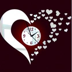 FLEXSTYL Moderní nalepovací nástěnné hodiny SEDCE IA053S černé